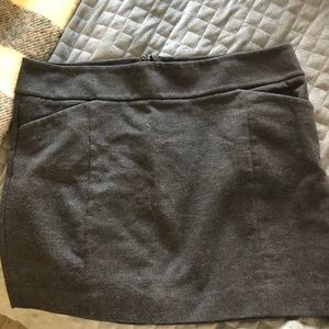 White House / Black Market - Grey Skirt - Size L